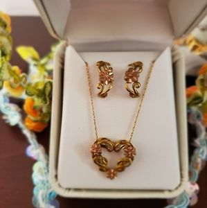 Earrings and Matching Pendant Set